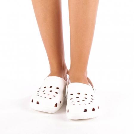 Papuci dama Edelline albi1