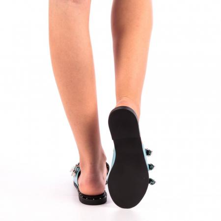 Papuci dama Edith albastri2