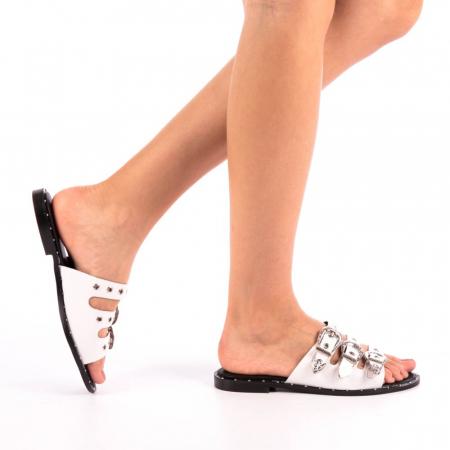 Papuci dama Edith albi0
