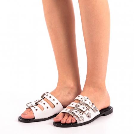 Papuci dama Edith albi1