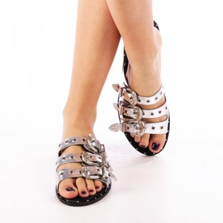 Papuci dama Edith argintii4