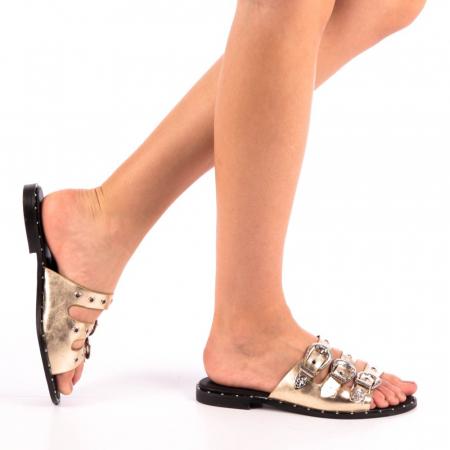Papuci dama Edith aurii0