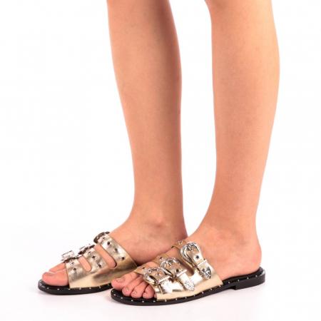 Papuci dama Edith aurii1