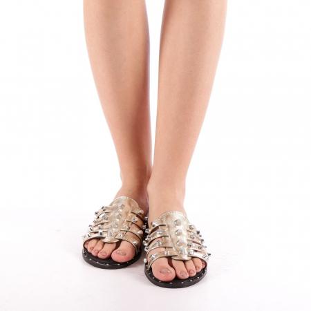 Papuci dama Iolanda aurii3