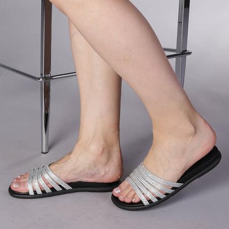 Papuci dama Kohn argintii0