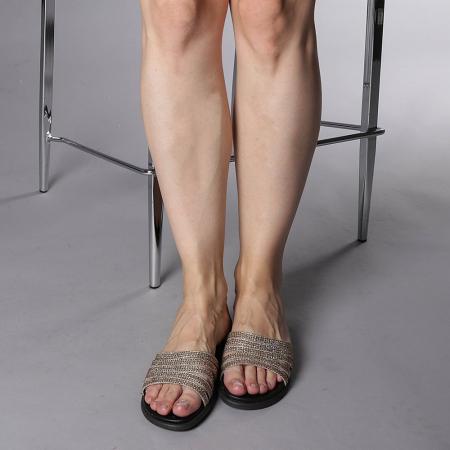 Papuci dama Kohn aurii1