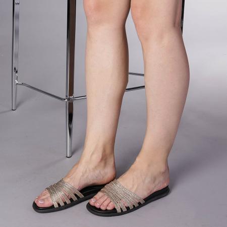 Papuci dama Kohn aurii2