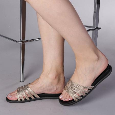 Papuci dama Kohn aurii0
