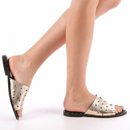 Papuci dama Laura aurii0