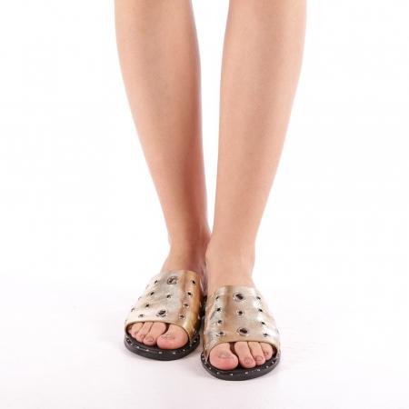 Papuci dama Laura aurii3
