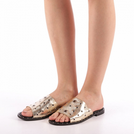 Papuci dama Laura aurii1