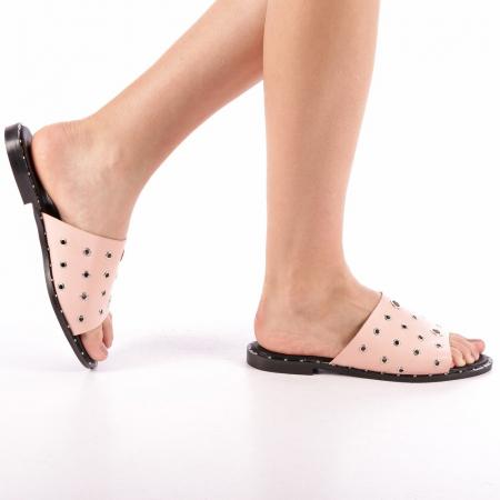 Papuci dama Laura roz0