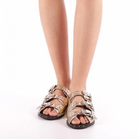 Papuci dama Luciana aurii3