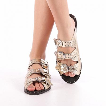 Papuci dama Luciana aurii4
