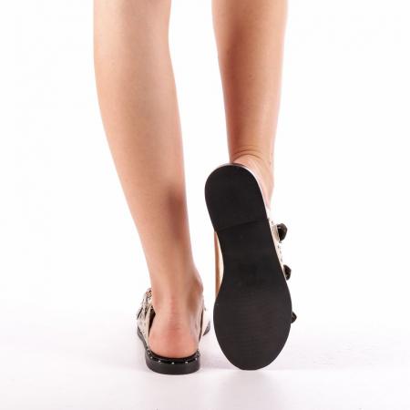 Papuci dama Luciana aurii2