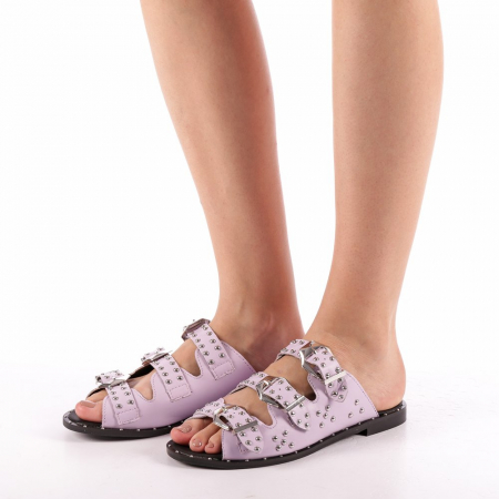 Papuci dama Luciana mov1