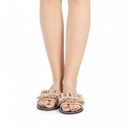 Papuci dama Milios bej4