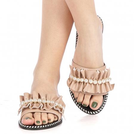 Papuci dama Milios bej1