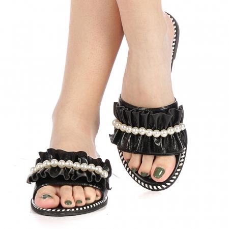 Papuci dama Milios negri1