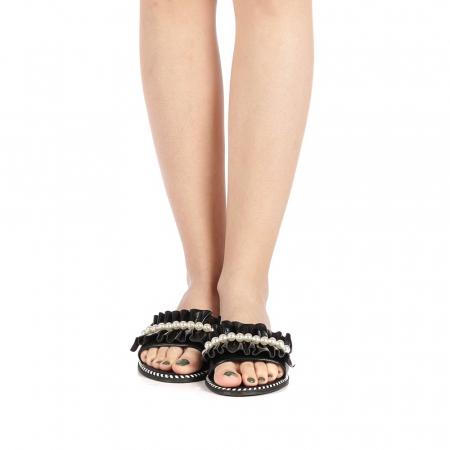 Papuci dama Milios negri4