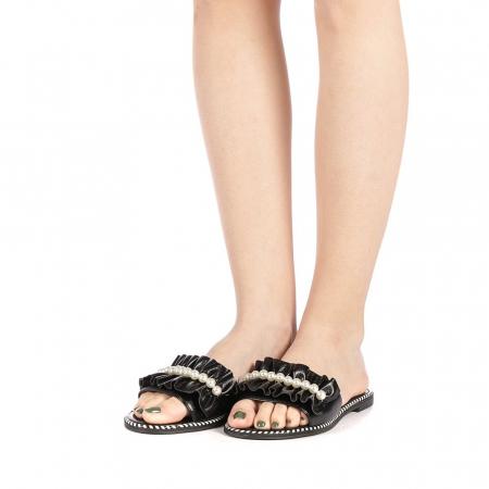 Papuci dama Milios negri2
