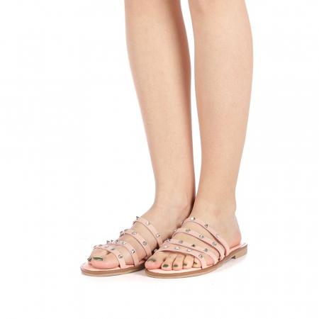 Papuci dama Mogana roz2