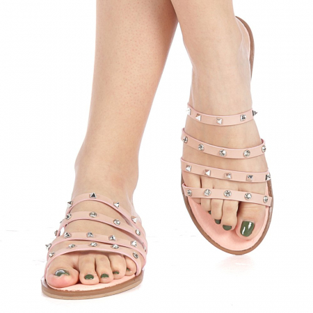 Papuci dama Mogana roz1