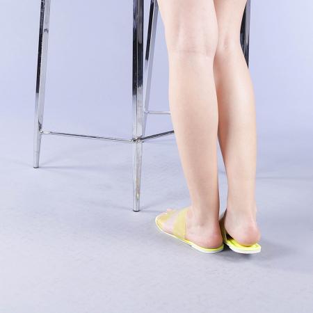 Papuci dama Morna galbeni3