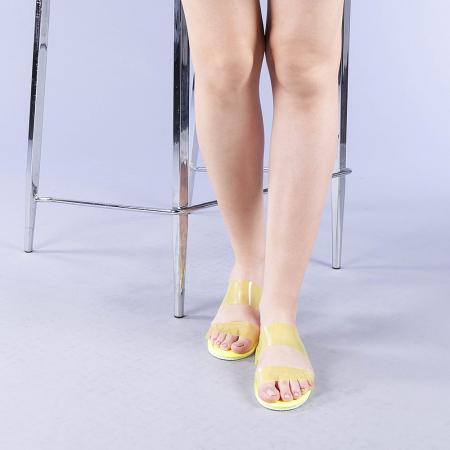 Papuci dama Morna galbeni1