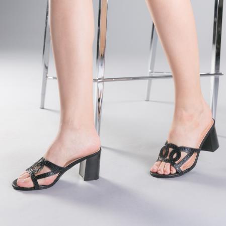 Papuci dama Sidonia negri2