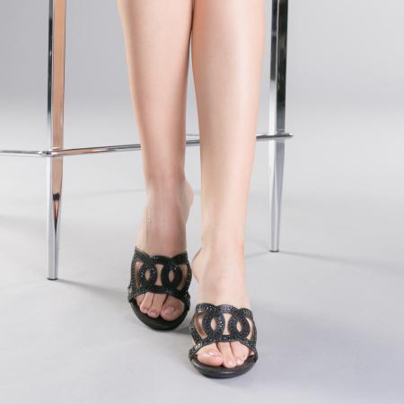 Papuci dama Sidonia negri1