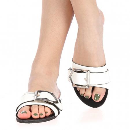 Papuci dama Zimar albi1