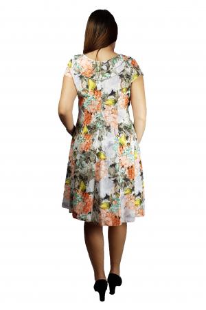 Rochia Larisa vaporoasa cu imprimeu floral3