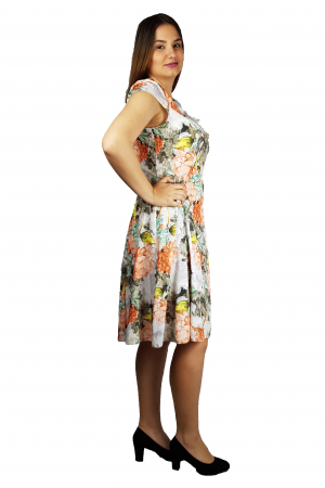 Rochia Larisa vaporoasa cu imprimeu floral2