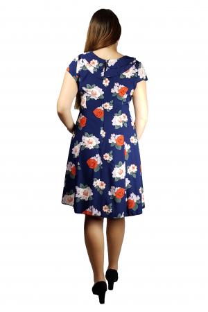 Rochie Andra vaporoasa cu imprimeu floral3
