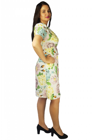 Rochie Laura cu imprimeu floral1