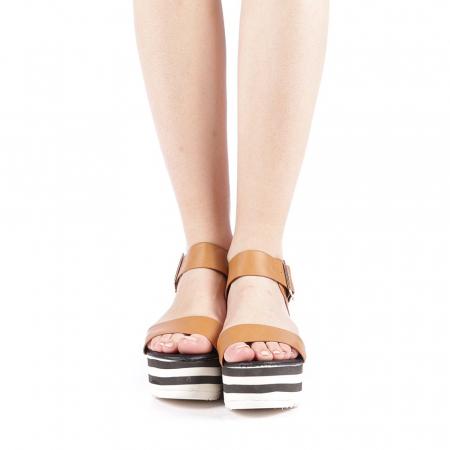 Sandale dama Billie camel4