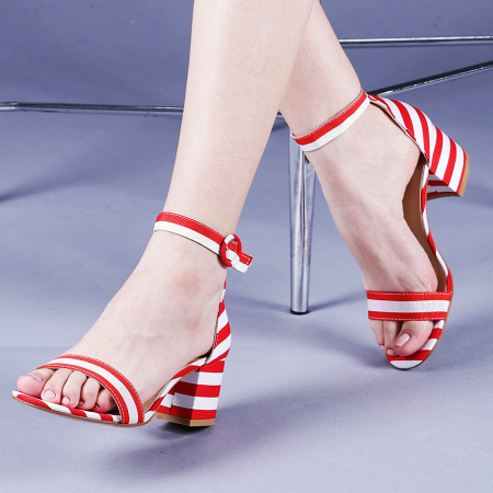 Sandale dama Stefania rosii0