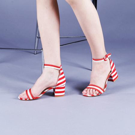 Sandale dama Stefania rosii2