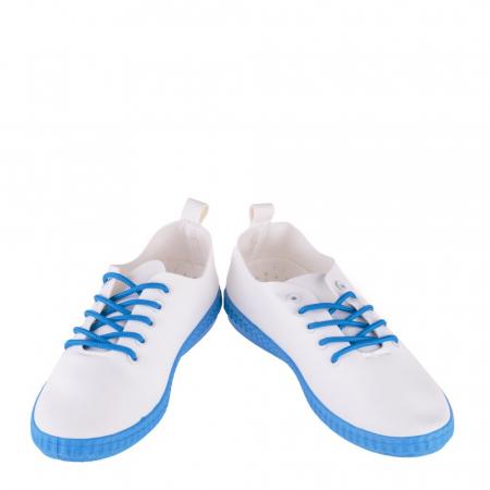 Tenisi dama Alva albi cu albastru royal4