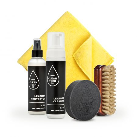 Set curatare piele, Cleantech Co, Leather Care Kit, curatare piele, 200ml 0