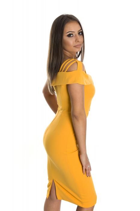 Rochie Evelina Galbena [1]