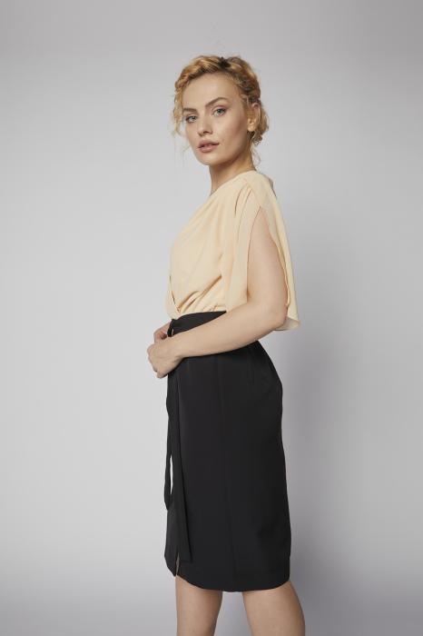 Rochie Kate piersica cu negru [1]