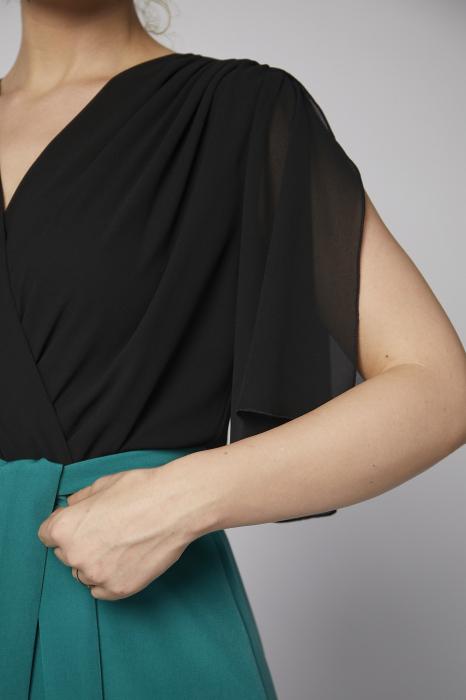 Rochie Kate verde cu negru [2]
