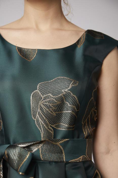 Rochie Larisa verde din tafta [2]