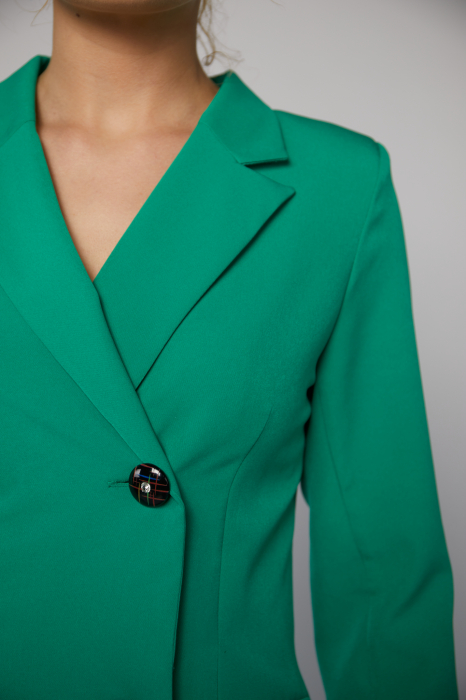 Rochie-sacou Britney de culoare verde [3]