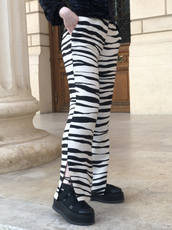Pantaloni Sage Satinati cu imprimeu zebra [2]