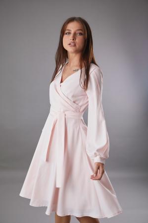 Rochie EMA roz cu maneci decupate [0]
