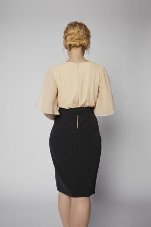 Rochie Kate piersica cu negru [3]