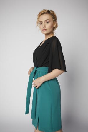 Rochie Kate verde cu negru [1]
